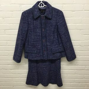 Marc Jacobs Purple Tweed Suit Blazer 8 Skirt 6